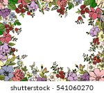 colorful frame with decorative... | Shutterstock . vector #541060270
