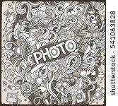 cartoon cute doodles hand drawn ... | Shutterstock .eps vector #541063828