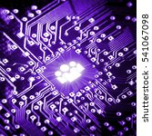 social icon on computer chip  ...   Shutterstock . vector #541067098