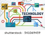 social media and network... | Shutterstock . vector #541069459
