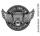 vintage bikes emblem  piston... | Shutterstock .eps vector #541071709