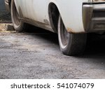 close up of tire tread old car | Shutterstock . vector #541074079