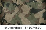 old dirty camouflage fabric | Shutterstock . vector #541074610