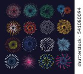 set of celebration fireworks... | Shutterstock .eps vector #541080094