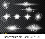 set  white glowing light burst...