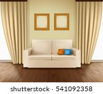 realistic room interior with... | Shutterstock .eps vector #541092358