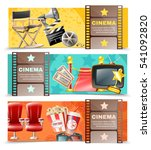 cinema movie theater and film... | Shutterstock .eps vector #541092820