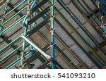 construction scaffolding on a... | Shutterstock . vector #541093210