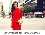 beautiful brunette young woman... | Shutterstock . vector #541093918