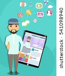 the concept of social... | Shutterstock .eps vector #541098940
