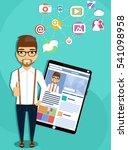 the concept of social...   Shutterstock .eps vector #541098958
