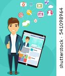 the concept of social...   Shutterstock .eps vector #541098964