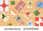 christmas background with... | Shutterstock .eps vector #541099060