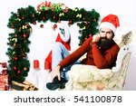 handsome bearded man with long... | Shutterstock . vector #541100878
