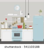 vector illustration of kitchen... | Shutterstock .eps vector #541103188