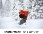 snowboarder jumps at sheregesh... | Shutterstock . vector #541104949