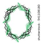 frame of thorns  crown of... | Shutterstock .eps vector #541108180