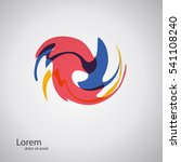 abstract whirl logo template.... | Shutterstock .eps vector #541108240