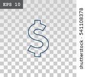 dollar icon vector.  | Shutterstock .eps vector #541108378
