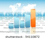 chart with map | Shutterstock .eps vector #54110872