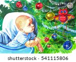 illustration gouache on paper... | Shutterstock . vector #541115806
