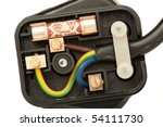 three pin plug showing the...