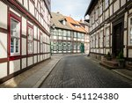 road through wernigerode  with... | Shutterstock . vector #541124380