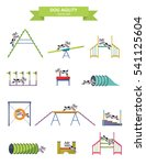 dog agility. funny dog with... | Shutterstock .eps vector #541125604