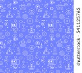 robotic technology outline...   Shutterstock .eps vector #541125763