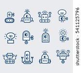 robot  icons set.  bot  symbols ... | Shutterstock .eps vector #541125796