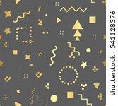 trendy geometric elements... | Shutterstock . vector #541128376