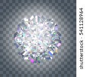 shining diamond on a... | Shutterstock .eps vector #541128964