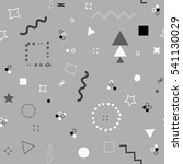 trendy geometric elements... | Shutterstock . vector #541130029