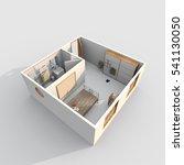3d interior rendering of... | Shutterstock . vector #541130050