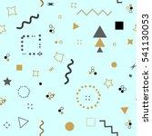 trendy geometric elements... | Shutterstock . vector #541130053