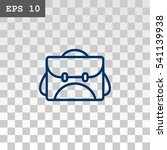 bag icon vector. | Shutterstock .eps vector #541139938