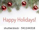 festive christmas background...   Shutterstock . vector #541144318