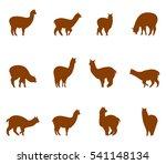 alpaca and llams emblems...   Shutterstock .eps vector #541148134