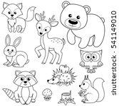 Forest Animals. Fox  Bear ...