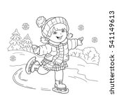 coloring page outline of... | Shutterstock .eps vector #541149613