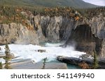 Nahanni National Park Reserve in the northwest Territories of Canada - rapids upstream of the Virginia Falls at the Nahanny River