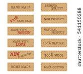 set of textured brown paper... | Shutterstock . vector #541150288