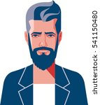 hipster beard. global colors...