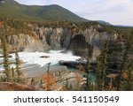 Nahanni National Park Reserve in the northwest Territories of Canada - rapids upstream of the Virginia Falls at the Nahanni River