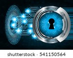 safety concept  closed padlock... | Shutterstock .eps vector #541150564