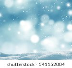 winter background with snow and ... | Shutterstock . vector #541152004