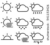 weather forecast icons  ... | Shutterstock .eps vector #541153426