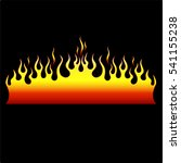 flame vector tribal. flame... | Shutterstock .eps vector #541155238