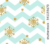 christmas gold snowflake... | Shutterstock .eps vector #541155670