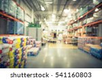 blurred large warehouse with... | Shutterstock . vector #541160803
